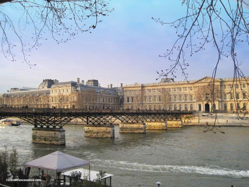 pont des arts metal footbridge paris. Black Bedroom Furniture Sets. Home Design Ideas