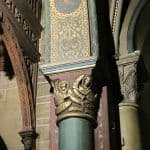 Saint Germain des Pres Church - Painted columns and capitals