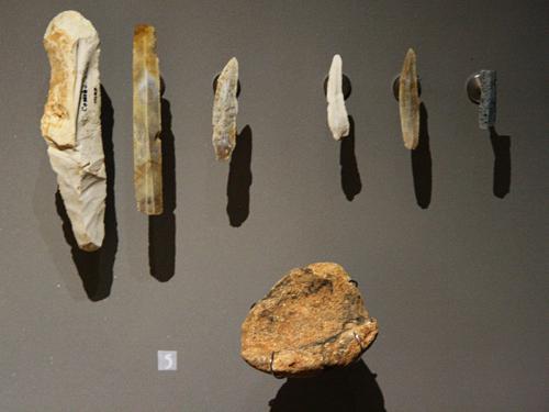 Prehistoric tools found in Combarelles