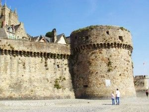 Mont St Michel ramparts