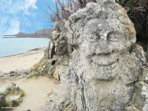 Rotheneuf Carved Rocks - Vive la Joie