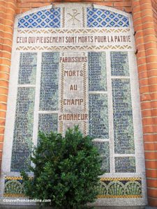 Saint Jean de Montmartre Church - Memorial slab to the Dead of WWI