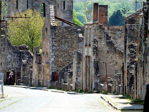 Oradour-sur-Glane main street