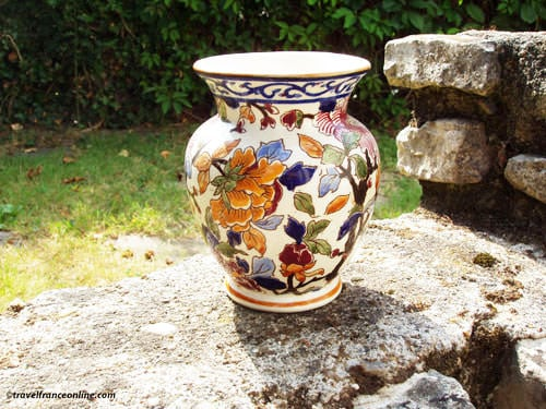 Limoges porcelain - Peony pattern