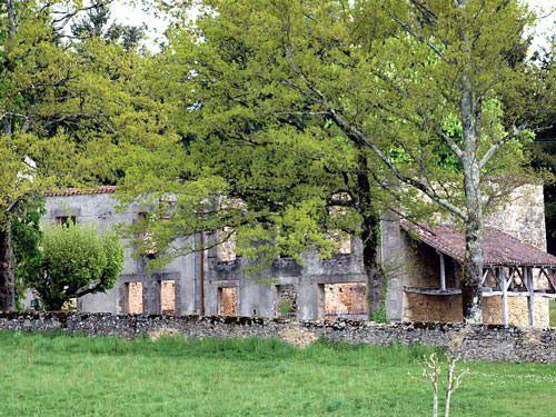 Ruined building in Oradour-sur-Glane