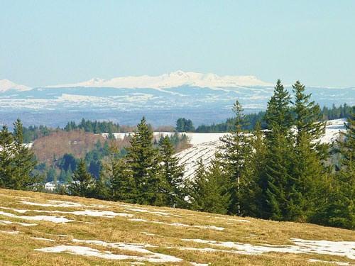 Plateau de Millevaches - Puy-de-Sancy seen from Mont Bessou
