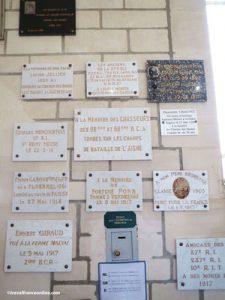 Cerny-en-Laonnois-commemorative-plaques-in-memorial-chapel