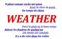 Weather related expressions in Colloquial French