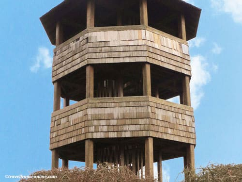 Battle of Crecy en Ponthieu - Observation tower built on the site of the Moulin d'Edouard