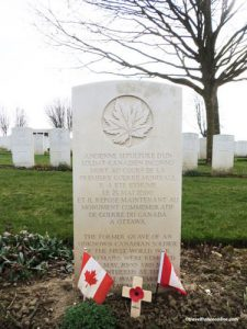 Your Story of the Great War - Canadian Unknown Solddier's former grave in Cabaret Rouge Cemetery - France