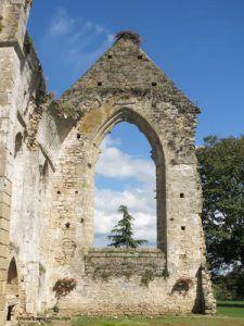 Vestiges of the Ile Chauvet Abbey church