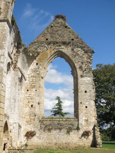 Ile Chauvet Abbey church ruins