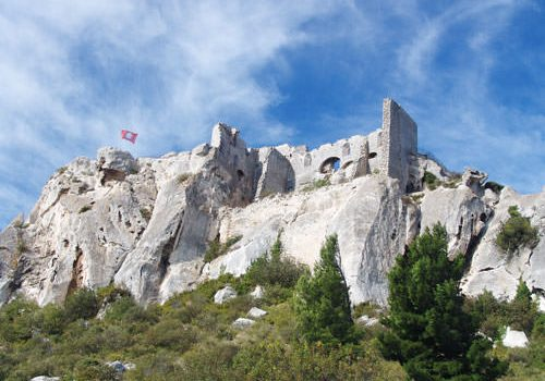 Les Baux-de-Provence ruined fortress