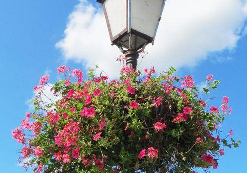 Villes-et-Villages-Fleuris-streetlight-with-hanging-basket